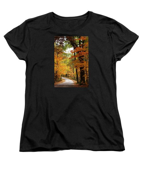 A Drive Through The Woods Women's T-Shirt (Standard Cut) by Bruce Bley