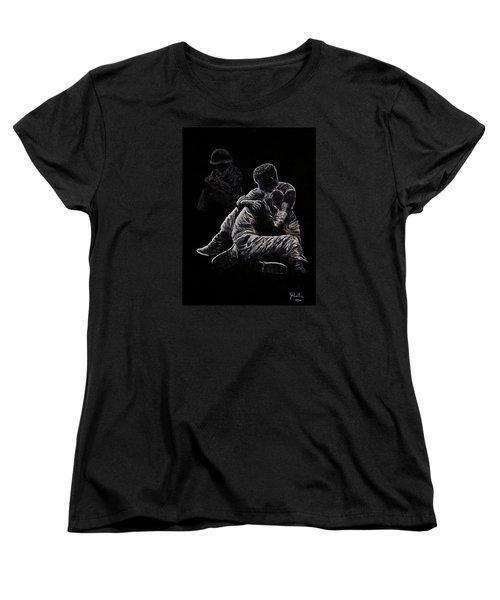 Women's T-Shirt (Standard Cut) featuring the painting My Friend Killed In Korean War by Bob Johnston