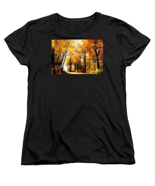 A Golden Day Women's T-Shirt (Standard Cut) by Lois Bryan