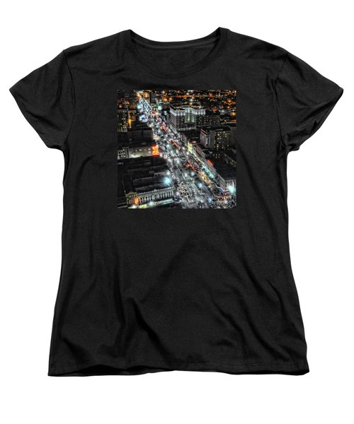 A Gothic Night In New Orleans On Canal Street Women's T-Shirt (Standard Cut) by Kathleen K Parker
