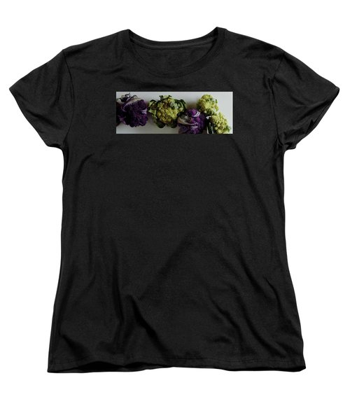 A Group Of Cauliflower Heads Women's T-Shirt (Standard Cut) by Romulo Yanes