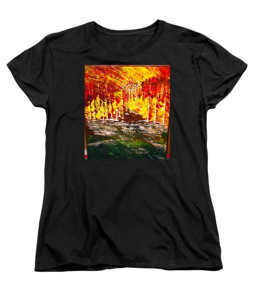 A Hot Summer Day.- Sold Women's T-Shirt (Standard Cut) by George Riney