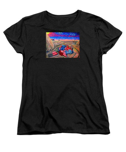 Women's T-Shirt (Standard Cut) featuring the painting A La Campagne/at The Country/ by Viktor Lazarev