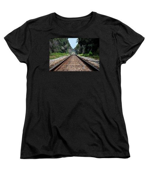 A Long Way Home Women's T-Shirt (Standard Cut) by John Black