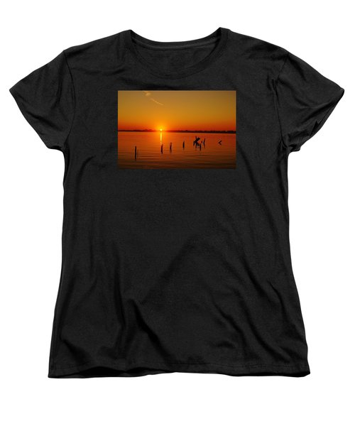 A New Day Dawns... Over Dock Remains Women's T-Shirt (Standard Cut) by Daniel Thompson