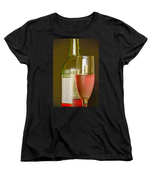 A Nice Glass Of Wine Women's T-Shirt (Standard Cut) by Charles Beeler