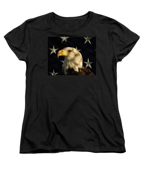 Women's T-Shirt (Standard Cut) featuring the photograph A Patriot by Raymond Salani III