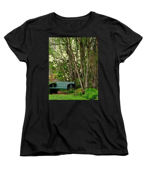 Women's T-Shirt (Standard Cut) featuring the photograph A Place To Sit by Rodney Lee Williams