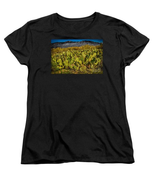 Women's T-Shirt (Standard Cut) featuring the photograph A Prickly Pear View by Mark Myhaver