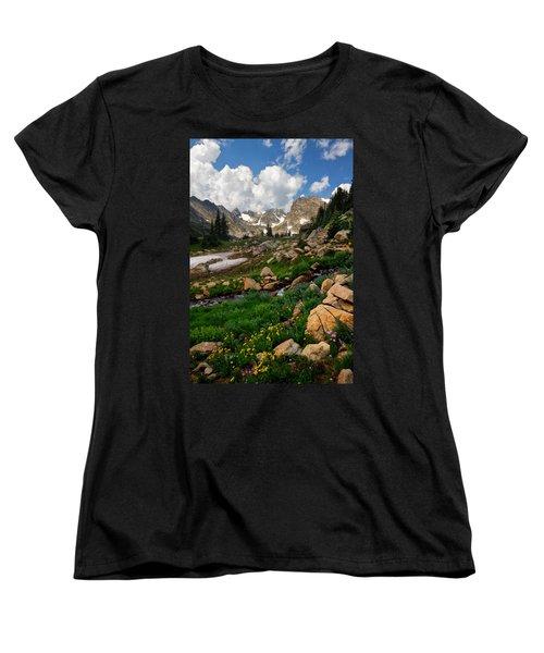 Women's T-Shirt (Standard Cut) featuring the photograph A Stream Runs Through It by Ronda Kimbrow