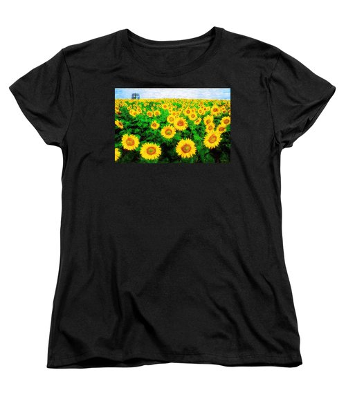 Women's T-Shirt (Standard Cut) featuring the painting A Sunny Day With Vincent by Sandy MacGowan