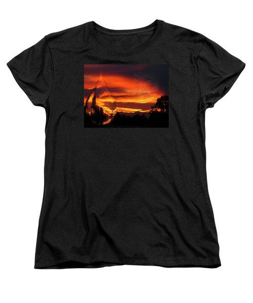 Women's T-Shirt (Standard Cut) featuring the digital art A Teardrop In Time by Joyce Dickens