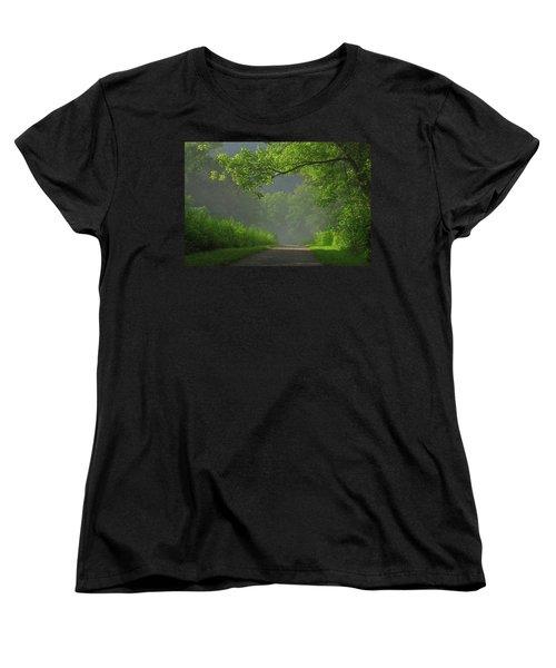 A Touch Of Green Women's T-Shirt (Standard Cut)
