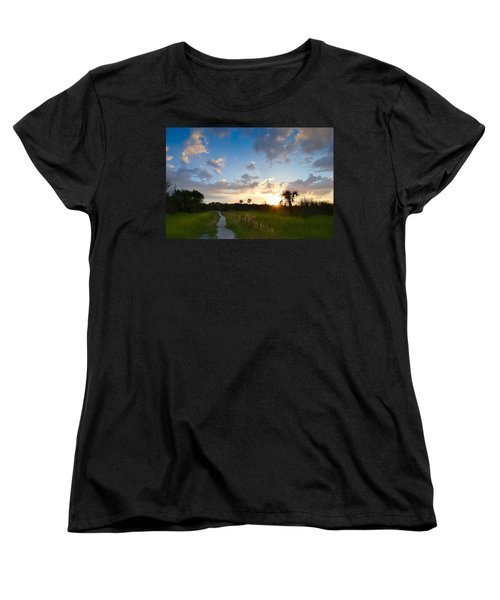 Women's T-Shirt (Standard Cut) featuring the photograph A Walk With You... by Melanie Moraga