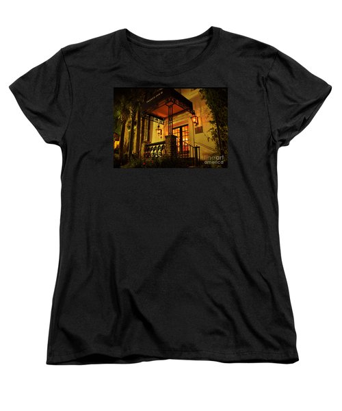 Women's T-Shirt (Standard Cut) featuring the photograph A Warm Summer Night In Charleston by Kathy Baccari