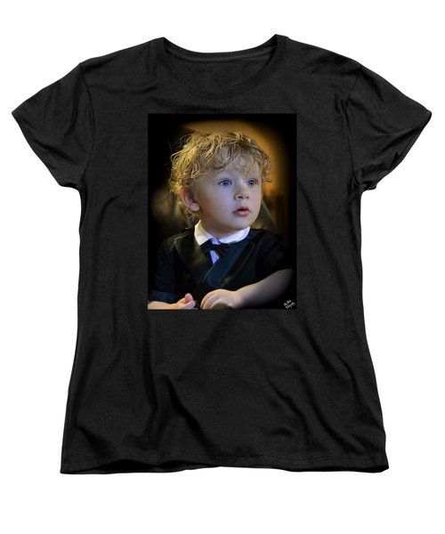 Women's T-Shirt (Standard Cut) featuring the photograph A Young Gentleman by Ally  White
