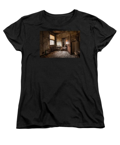 Abandoned Asylum - Haunting Images - What Once Was Women's T-Shirt (Standard Cut) by Gary Heller