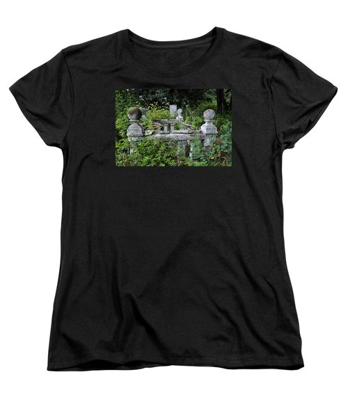 Women's T-Shirt (Standard Cut) featuring the photograph Abandoned Cemetery 2 by Cathy Mahnke