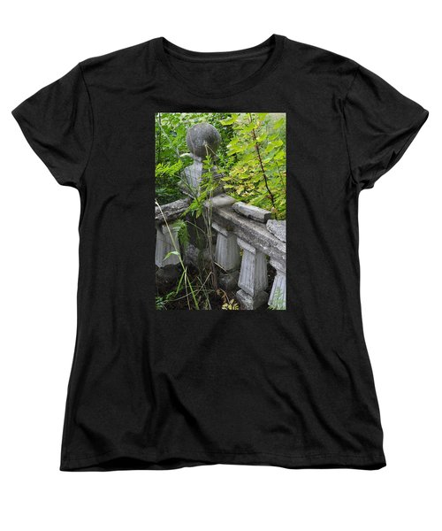 Women's T-Shirt (Standard Cut) featuring the photograph Abandoned Cemetery by Cathy Mahnke