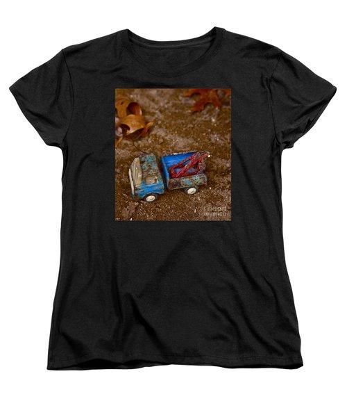 Women's T-Shirt (Standard Cut) featuring the photograph Abandoned Truck by Xn Tyler
