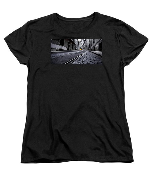 Abandoned Way Women's T-Shirt (Standard Cut) by Jorge Maia