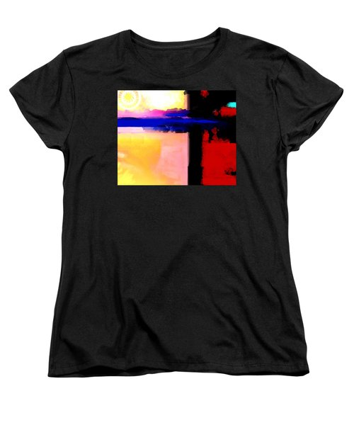 Abstract Impressions Of A Blue Horizon Women's T-Shirt (Standard Cut) by Karon Melillo DeVega