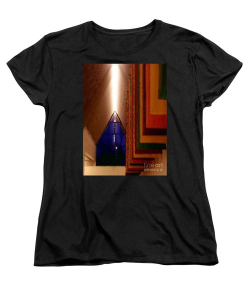 Women's T-Shirt (Standard Cut) featuring the photograph Abstract - Center For The Arts Interior Allentown Pa by Jacqueline M Lewis