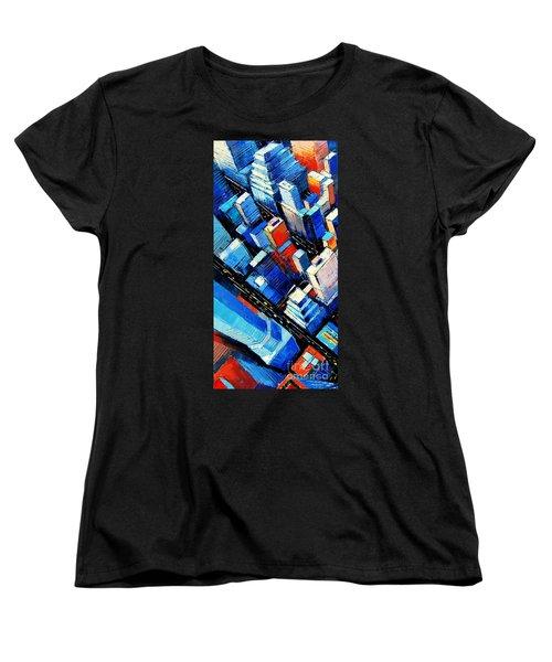Abstract New York Sky View Women's T-Shirt (Standard Cut)