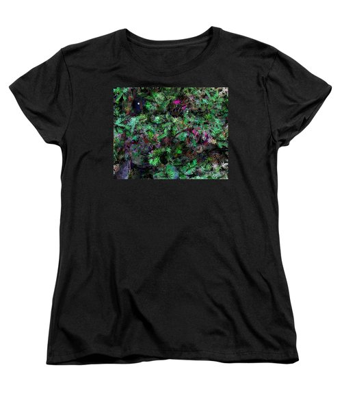 Women's T-Shirt (Standard Cut) featuring the digital art Abstraction 121514 by David Lane
