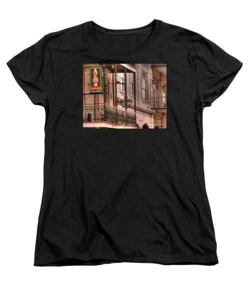 Acme Oyster House Women's T-Shirt (Standard Cut) by David Bearden