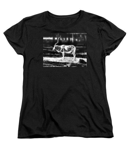 Addax Spirit Of The Desert Women's T-Shirt (Standard Cut) by Miroslava Jurcik