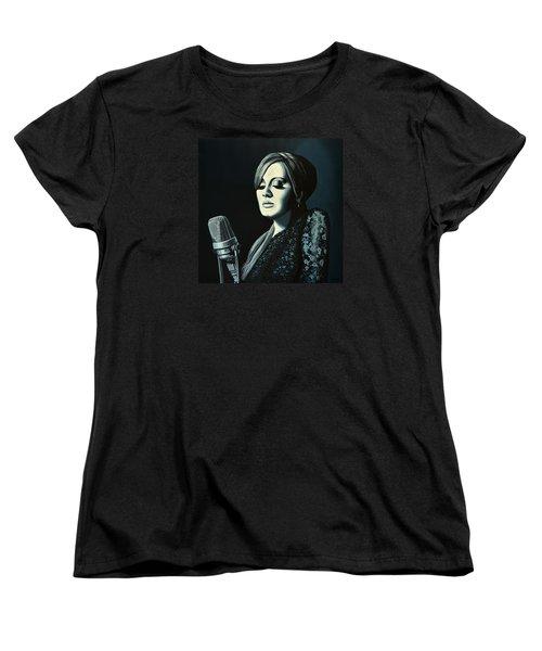 Adele Skyfall Painting Women's T-Shirt (Standard Cut) by Paul Meijering