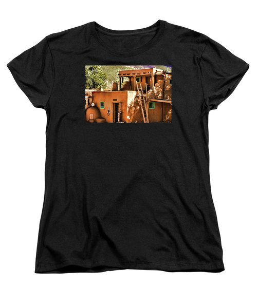 Women's T-Shirt (Standard Cut) featuring the painting Adobe by Muhie Kanawati