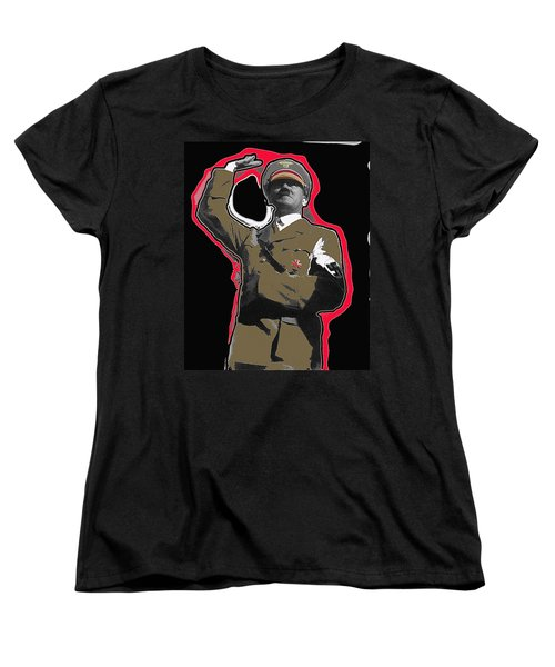Adolf Hitler Saluting 2 Circa 1933-2009 Women's T-Shirt (Standard Cut) by David Lee Guss