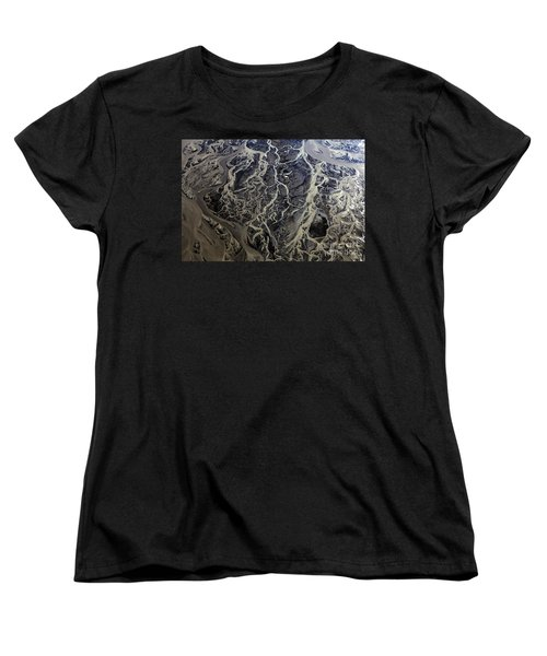 Women's T-Shirt (Standard Cut) featuring the photograph Aerial Photography by Gunnar Orn Arnason