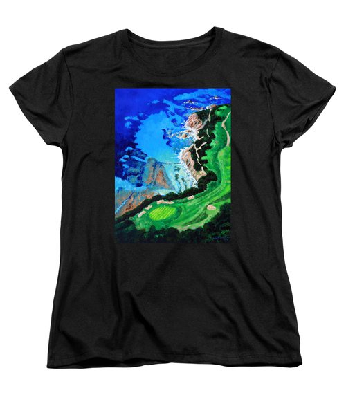 Aerial View Of Pebble Beach Women's T-Shirt (Standard Cut) by John Lautermilch