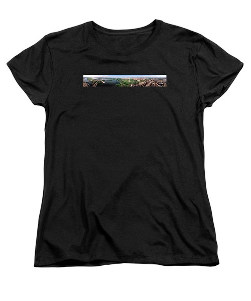 Aerial Washington Dc Usa Women's T-Shirt (Standard Cut) by Panoramic Images