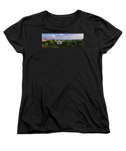 Aerial, White House, Washington Dc Women's T-Shirt (Standard Cut) by Panoramic Images