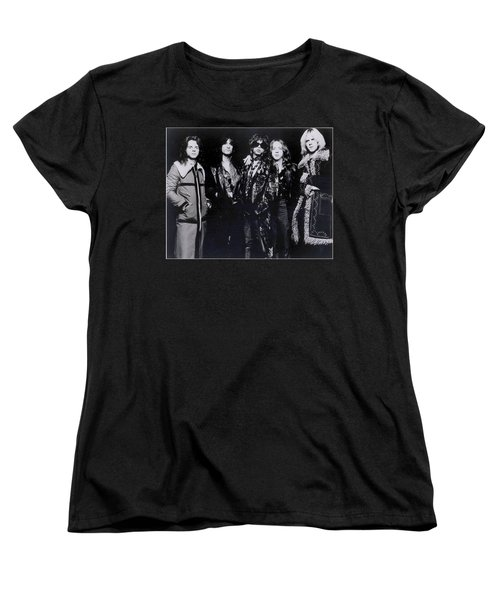 Aerosmith - America's Greatest Rock N Roll Band Women's T-Shirt (Standard Cut) by Epic Rights
