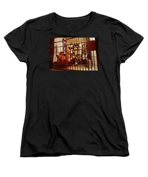 Aerosmith - In A Cage 1980s Women's T-Shirt (Standard Cut) by Epic Rights