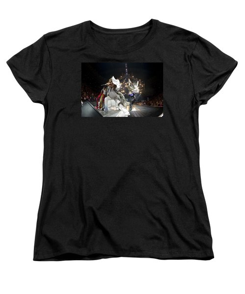 Aerosmith - On Stage 2012 Women's T-Shirt (Standard Cut) by Epic Rights