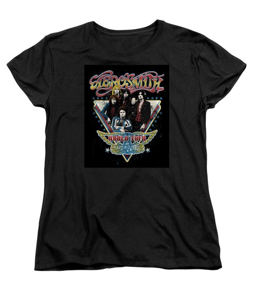 Aerosmith - World Tour 1977 Women's T-Shirt (Standard Cut) by Epic Rights