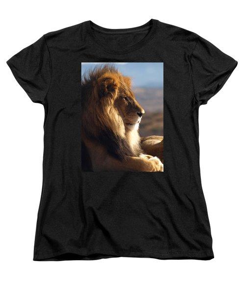 African Lion Women's T-Shirt (Standard Cut) by James Peterson
