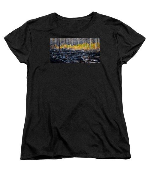 After The Burn Women's T-Shirt (Standard Cut) by John McArthur