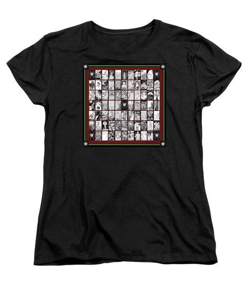 Women's T-Shirt (Standard Cut) featuring the painting Album Quilt Subdued by Carol Jacobs