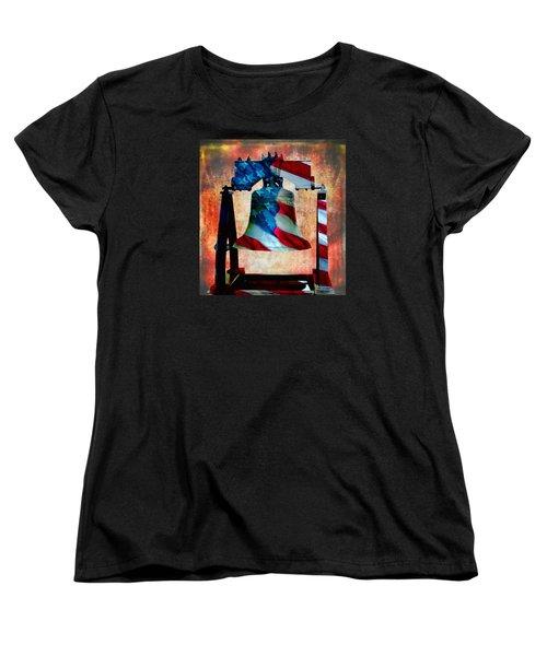 Liberty Bell Art Smooth All American Series Women's T-Shirt (Standard Cut)