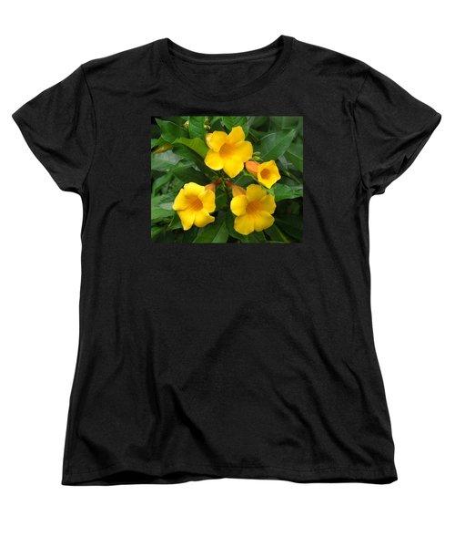 Allamanda Women's T-Shirt (Standard Cut) by Ron Davidson