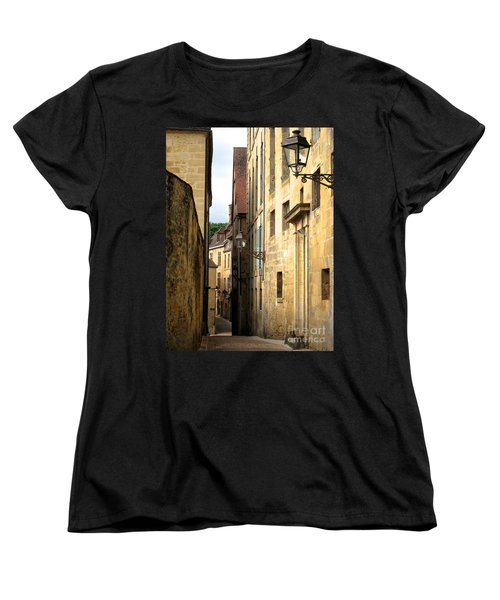 Alleys Of Sarlat Women's T-Shirt (Standard Cut) by Suzanne Oesterling