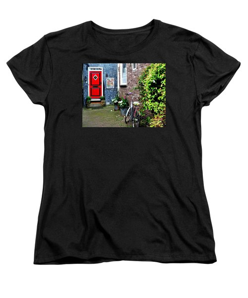 Women's T-Shirt (Standard Cut) featuring the photograph Alleyway In Dutch Village by Joe  Ng