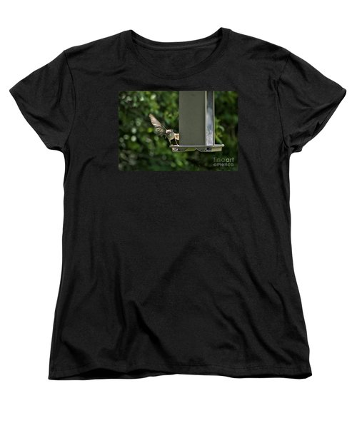 Women's T-Shirt (Standard Cut) featuring the photograph Almost A Ruff Bird Landing by Thomas Woolworth